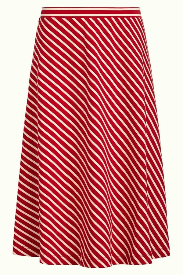 Juno Skirt Breton Stripe Chili Red