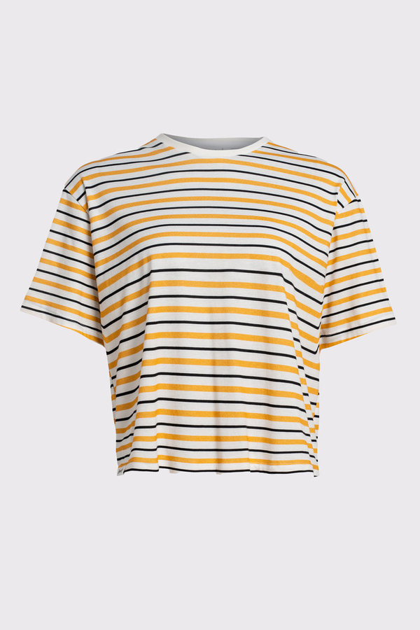 Vayana Cropped T-Shirt Stripes